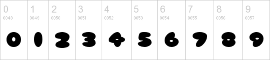 tsum tsum font numbers