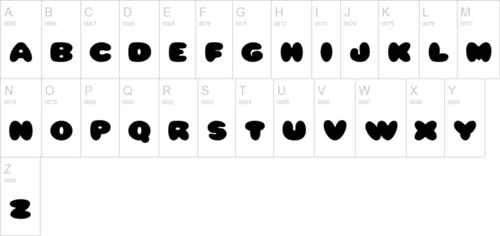 tsum tsum font uppercase