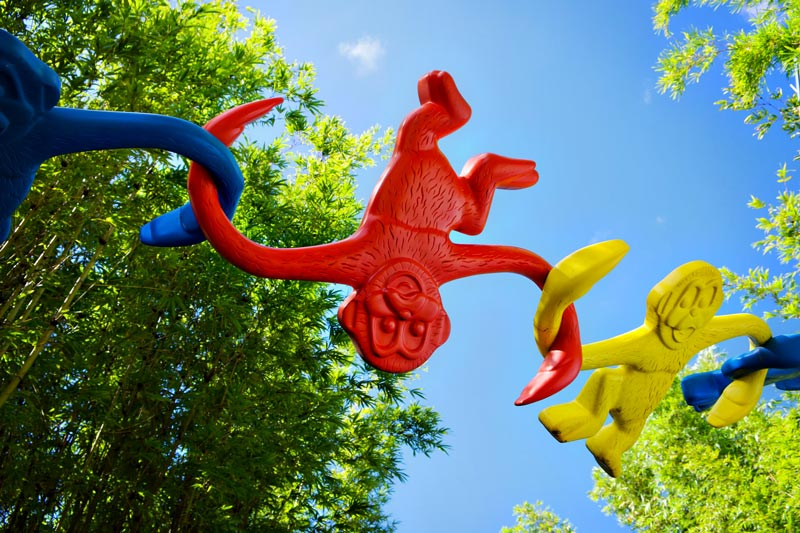 Monkeys at Toy Story Land in Hollywood Studios