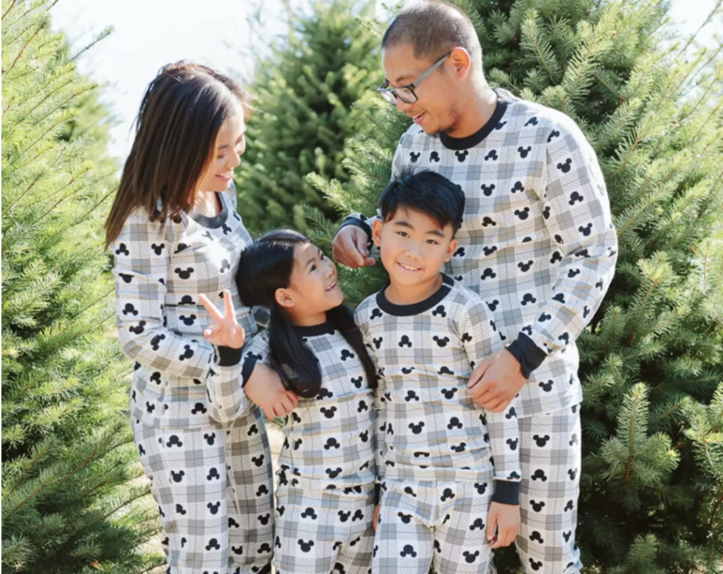 Matching Disney Mickey Mouse Christmas Pajamas for the Family
