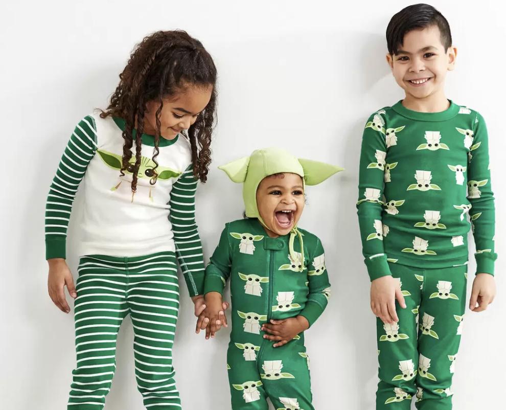 Matching The Child Pajamas from the Mandalorian