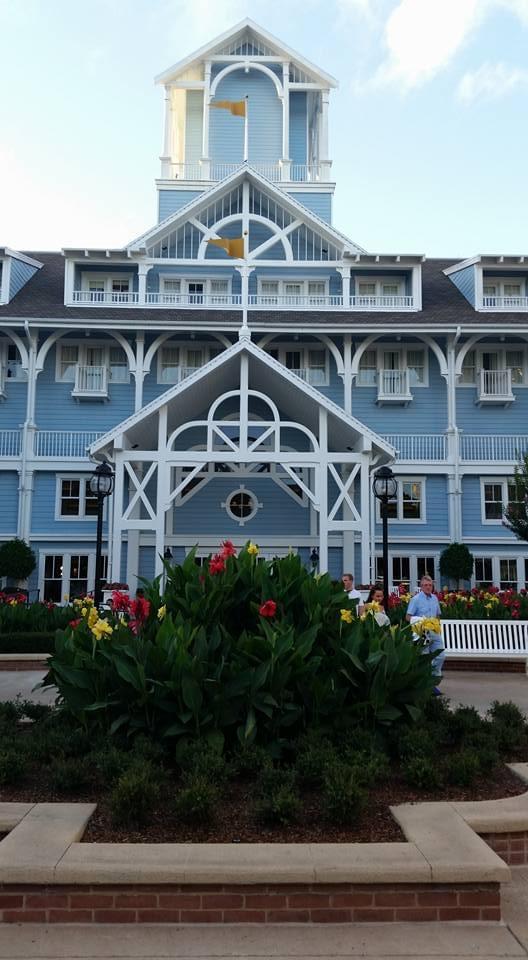 Disney's Beach Club rear entrance
