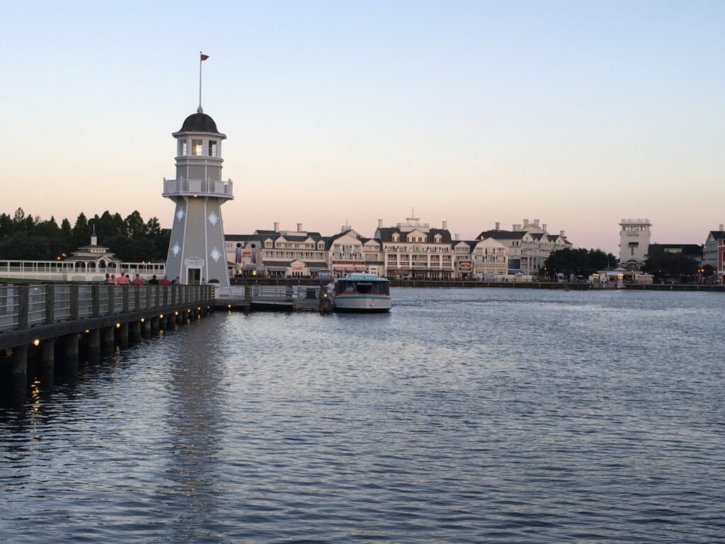 Serene bay at Disney's Yacht Club