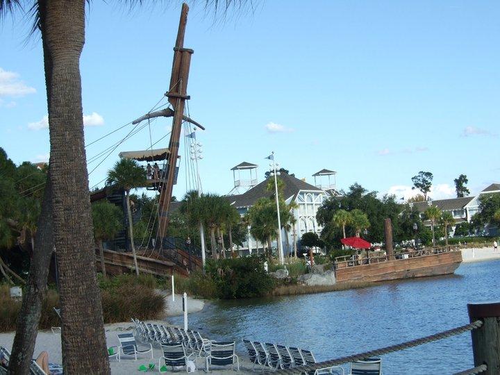 Shipwreck beach at Disney's Yacht Club resort