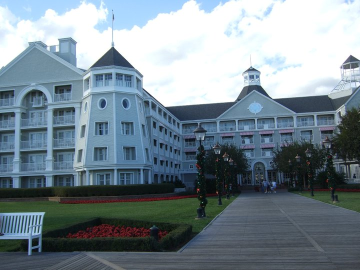 Exterior of Disney's Yacht Club resort in Orlando Florida