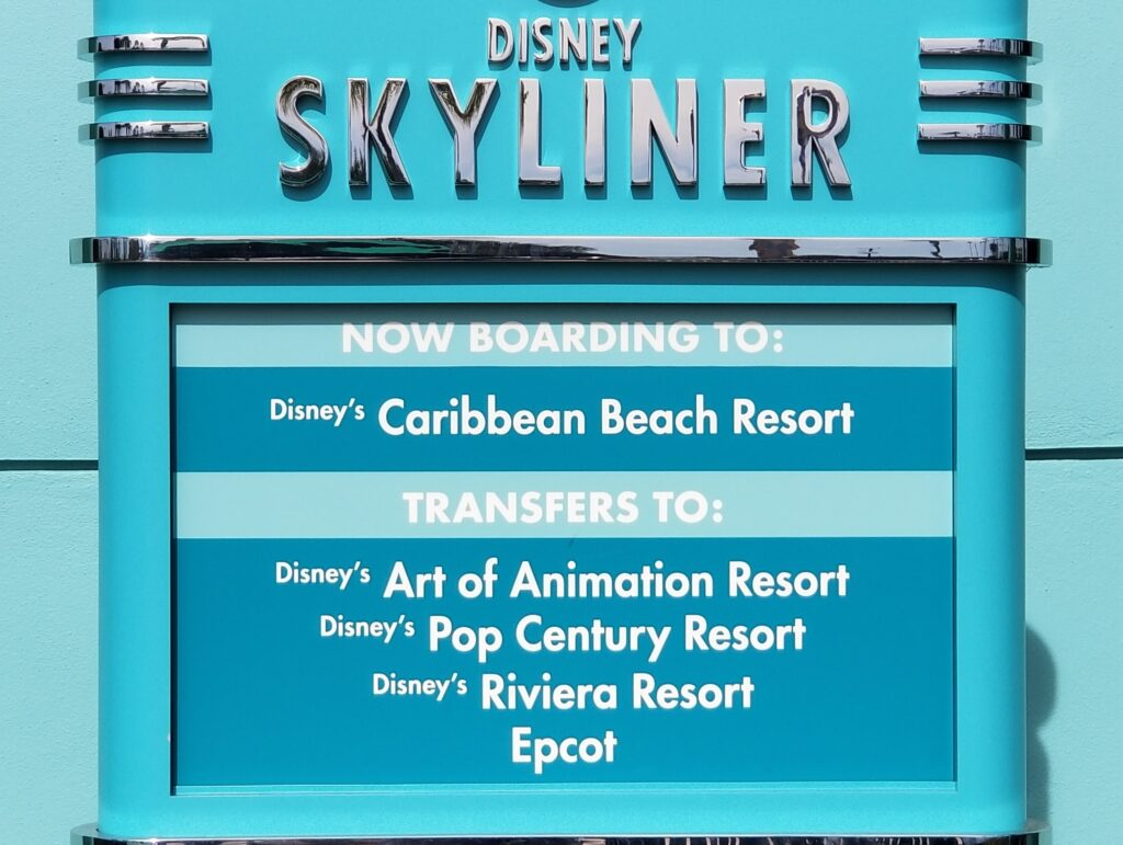 Disney Skyliner explainer sign