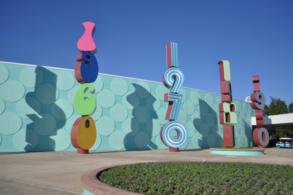 signs with decades outside Pop Century resort