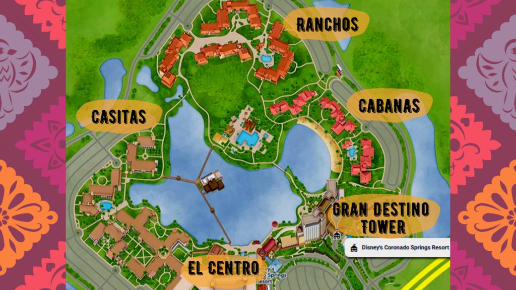 Map of Disney Coronado Springs Resort