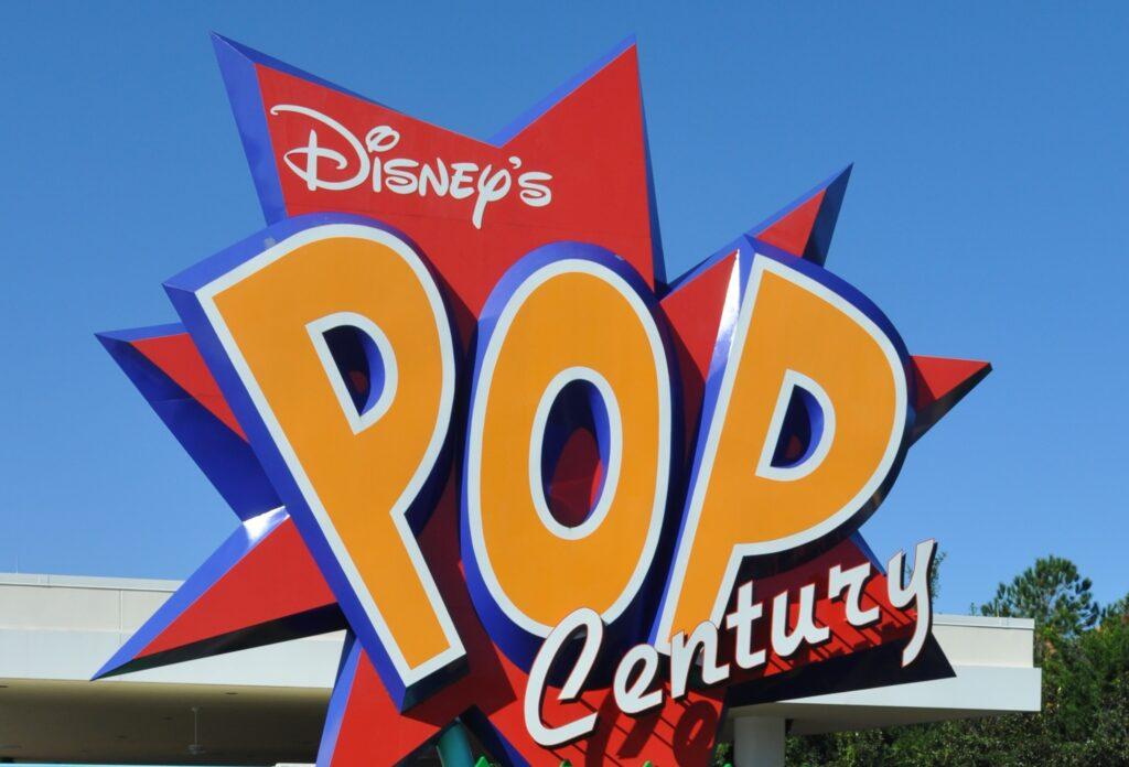 Sign at Disney's Pop Century resort