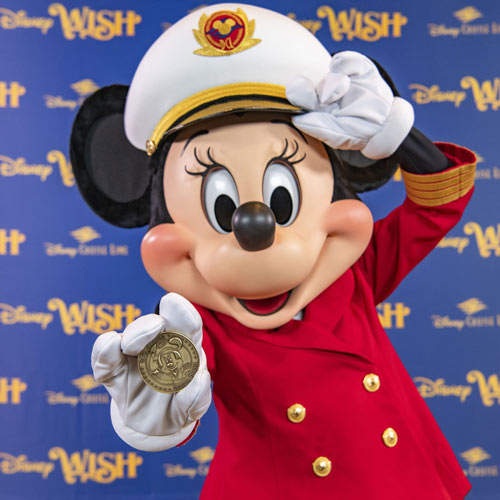 Minnie Mouse will be featured on the bow of the Disney Wish cruise ship.