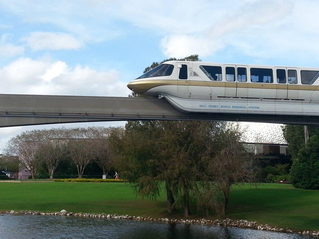 Monorail at Walt Disney World, near Epcot