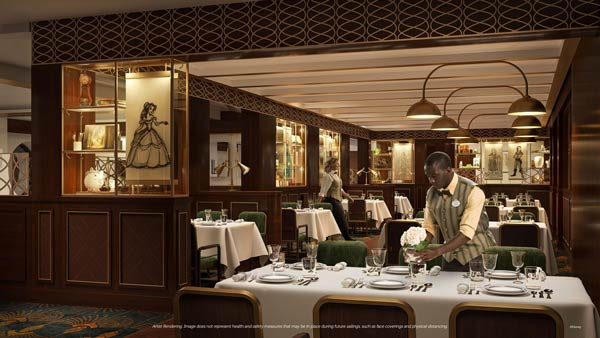 1923 restaurant on Disney Wish cruise ship is named after the year The Walt Disney Company was founded.