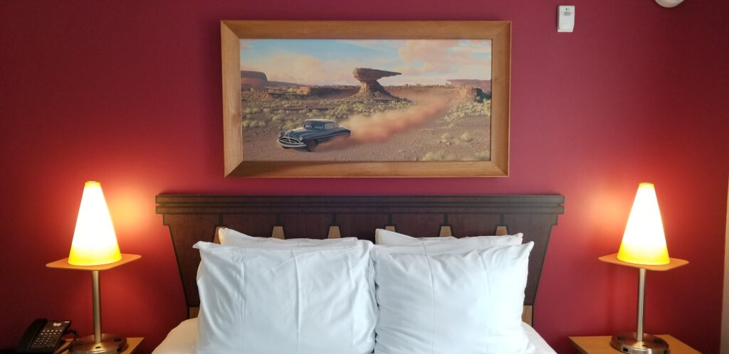 Cars themed room at Art of Animation resort