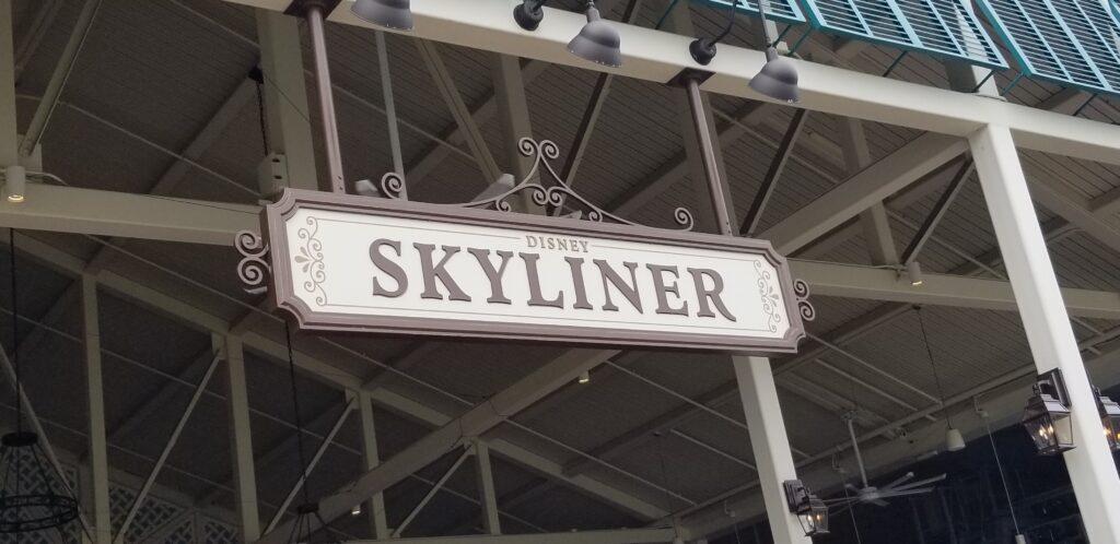 Disney Skyliner sign at Art of Animation resort