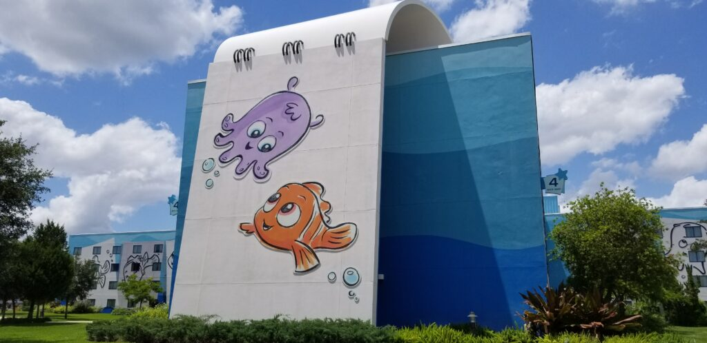 Finding Nemo artwork at family suites for Art of Animation resort