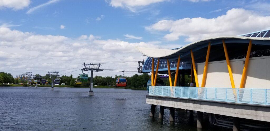 Skyliner gondola terminal from Art of Animation resort