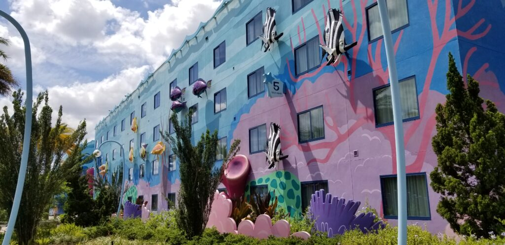 Outside the hotel area of Art of Animation resort room