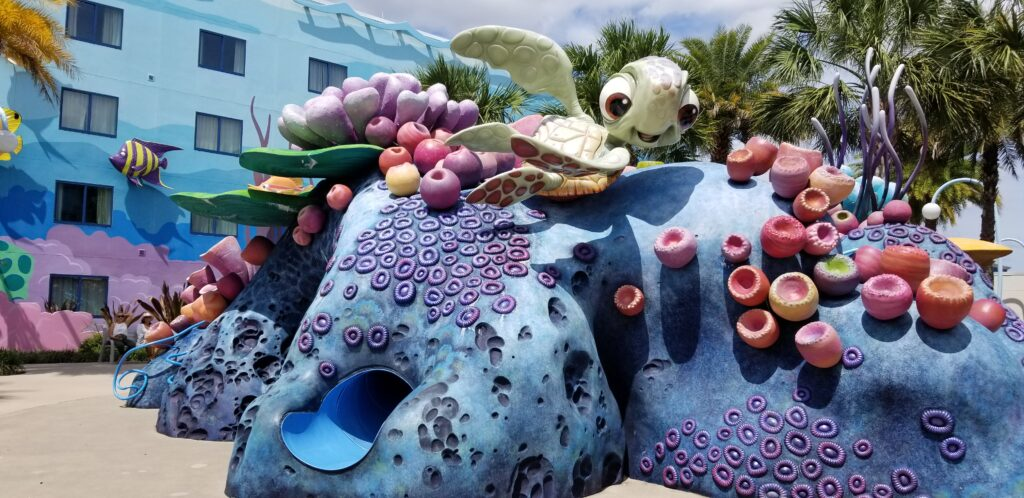 Squirt at Righteous Reef at Art of Animation resort