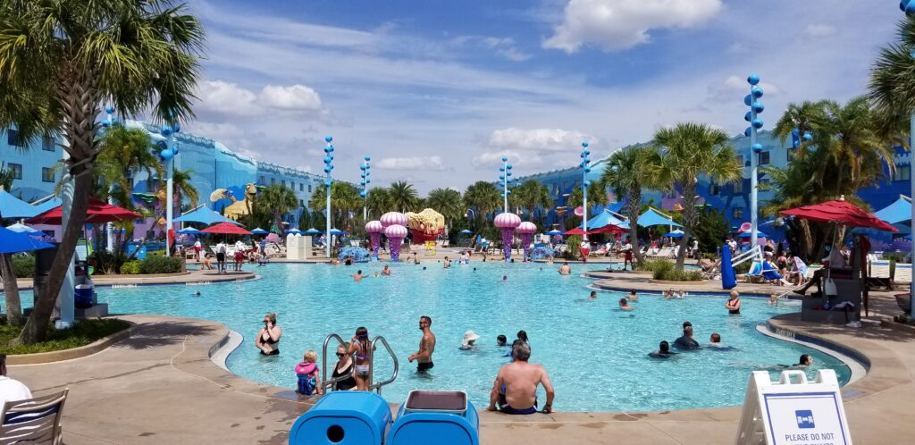 Biggest pool at Art of Animation resort