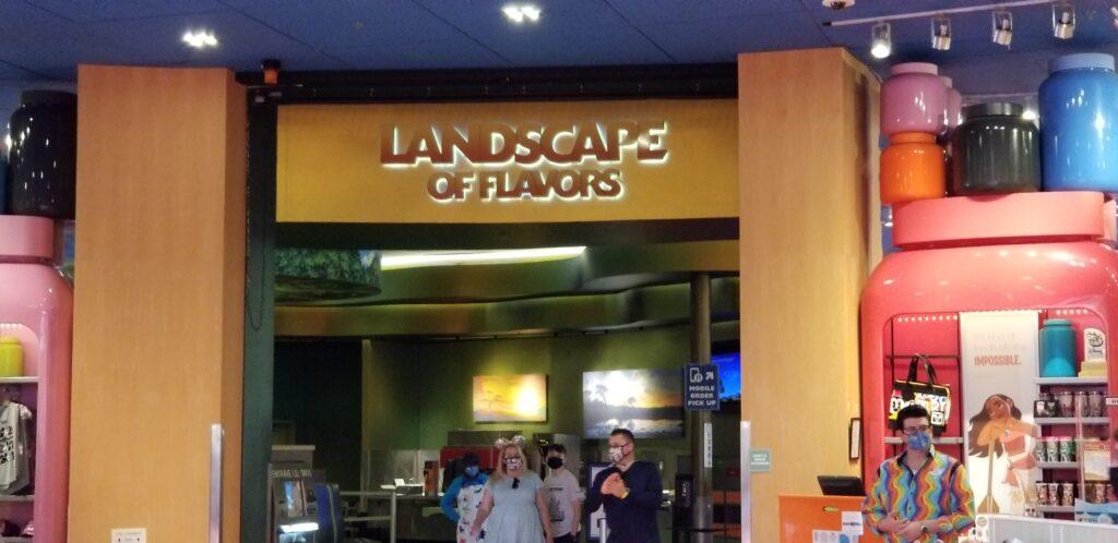 Landscape of Flavors entrance at Art of Animation resort