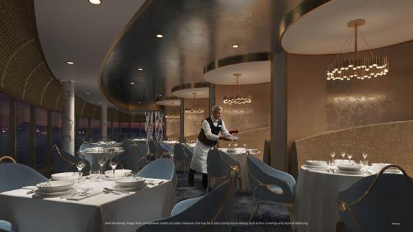 Enchante premium dining experience on Disney Wish