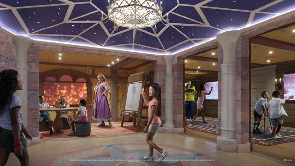 Fairytale Hall on Disney Wish is part of Oceaneer Club
