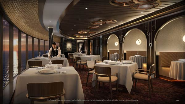 PALO Steakhouse on Disney Wish is a premium dining experience.