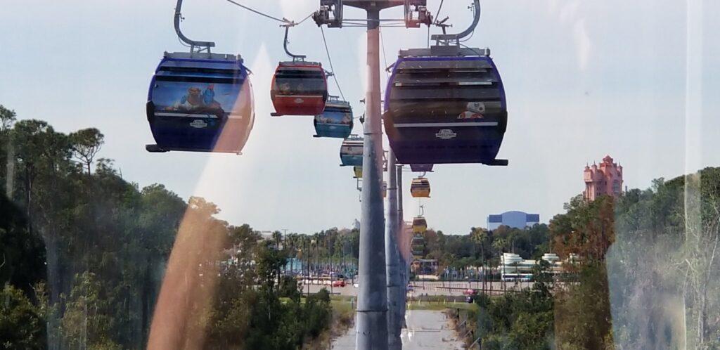 Disney Skyliner gondolas at Art of Animation