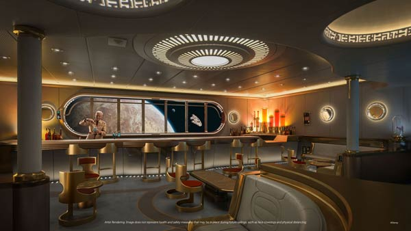 Star Wars Hyperspace Lounge on Disney Wish