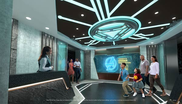 Worlds of Marvel restaurant on Disney Wish will be an interactive experience.