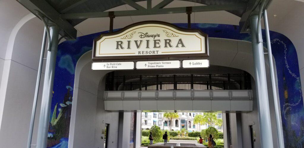 Bus stop for Disney's Riviera resort