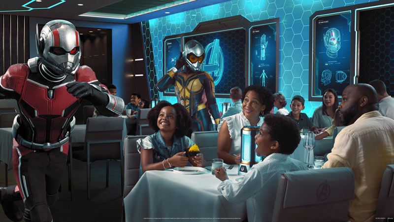 Avengers Quantum Encounter dining experience on Disney Wish will feature Ant-Man and The Wasp