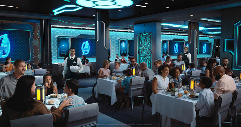 Avengers Quantum Encounter dining experience on Disney Wish