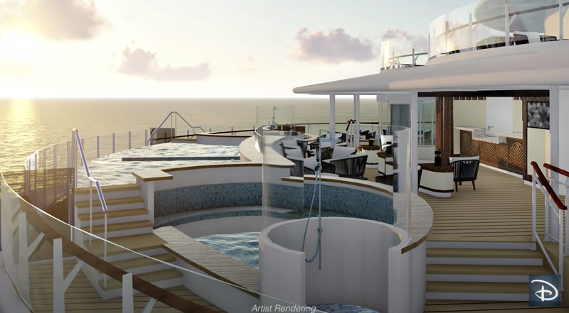 Quiet Cove adults pool at Disney Wish cruise ship