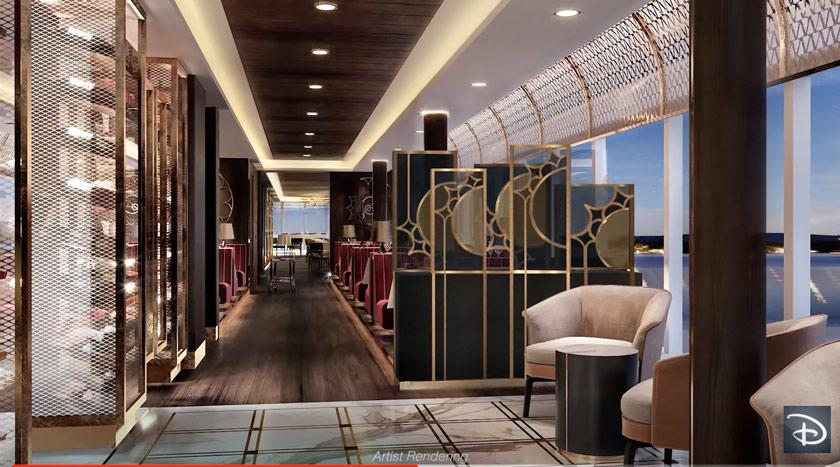 Image of Palo Steakhouse on Disney Wish cruise ship