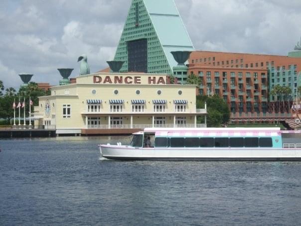 Disney Swan Hotel and lake view