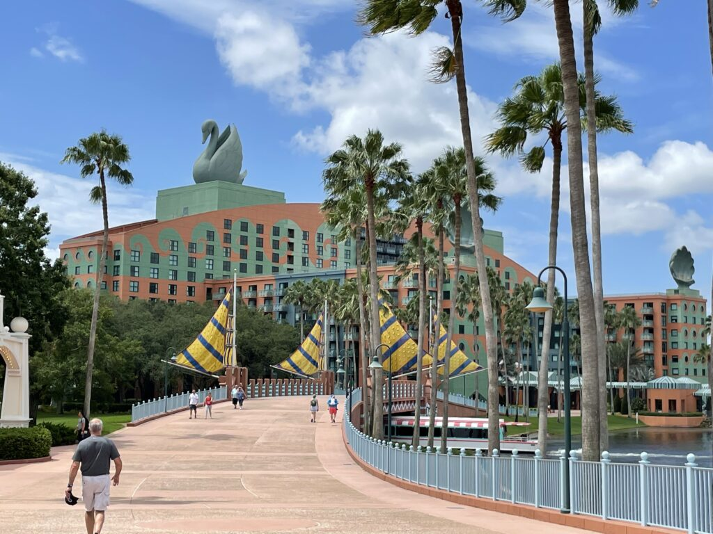 Disney Swan Hotel boardwalk